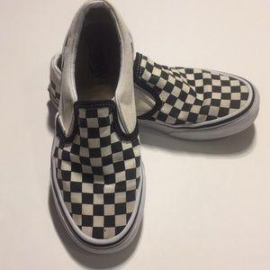 Vans Girls Checkered Slip On Sneakers